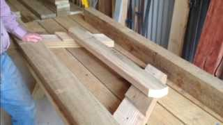Making commercial picnic tables for Mt Buller
