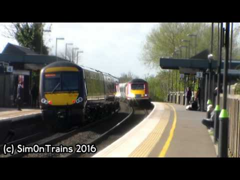 5Z43 HST Convoy, 43300  43013, 43423, 41001 & 43048 passing Tamworth 3rd May 2016