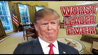 Donald Trump - Try Not To Laugh - Worst Leader Ever - (voice over)
