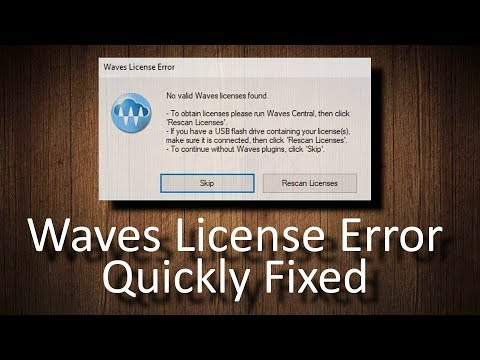 FIX Waves License Error: No valid Waves licenses found - YouTube