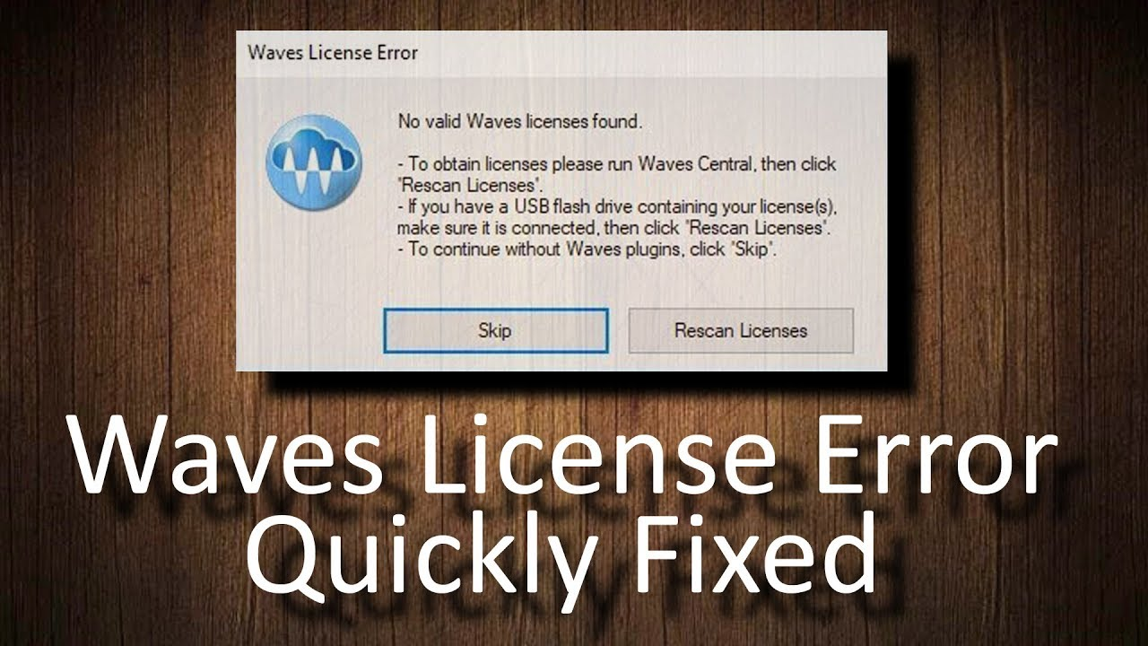 FIX Waves License Error: No valid Waves licenses found
