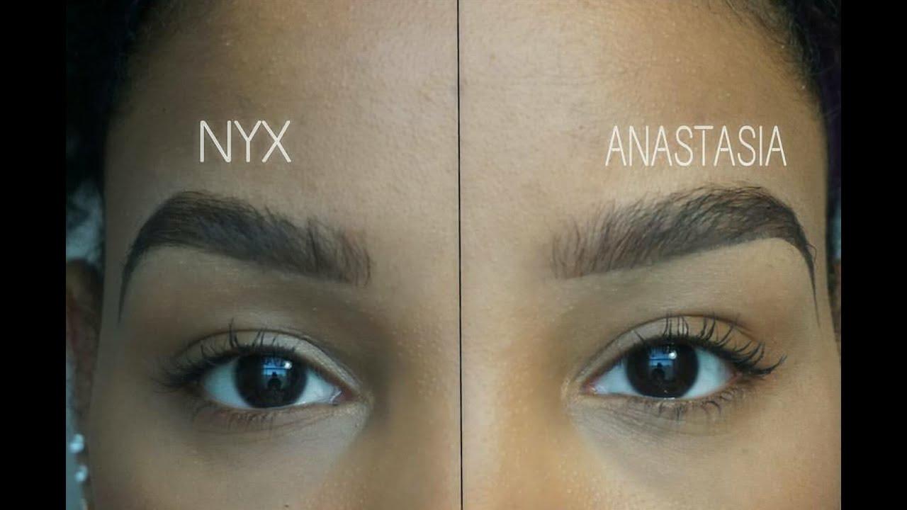 Nyx Vs Anastasia Eyebrow Tutorial Youtube