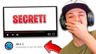 Ali-A REACTS to his FIRST *SECRET* YOUTUBE VIDEO!