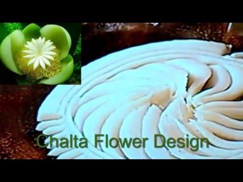 how-to-make-nokshi-pitha-(chalta-flower-design-and-sunflower-design)-with-rice-flour.