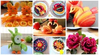 15 種切水果蔬菜的方法 - 種單的水果雕刻創意