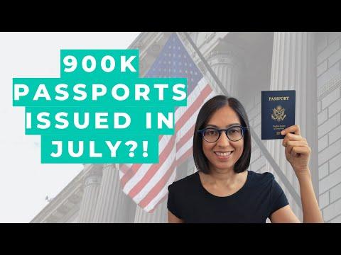 US Passport Update | 900K Passports Issued In July 2020