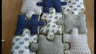 DIY puzzle piece pillow tutorial