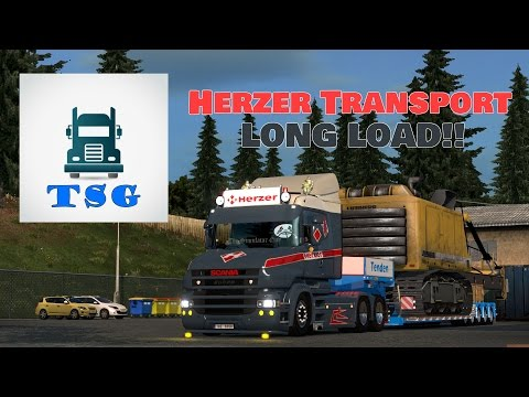 Live Stream - Herzer Transport - Scania T - Thor Tenden Very Long Trailer - Rear Steer