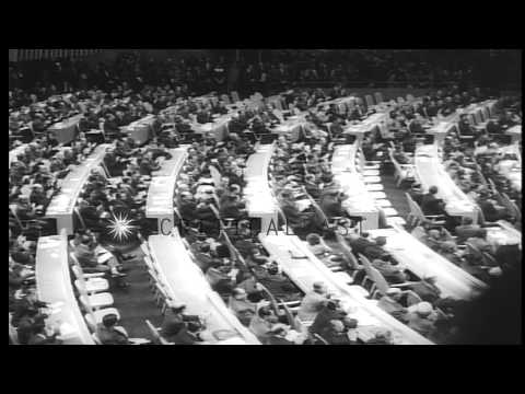 A United Nations Meeting at the UN Headquarters in New York USA. HD Stock Footage