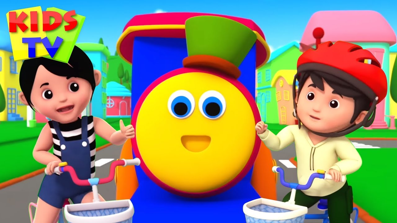 Lets Ride Bicycle Song | Bob The Train Cartoons | Kids Songs & Nursery Rhymes for Babies