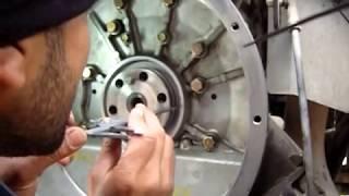 Замена коренного сальника с металлической обоймой, двигатель FE6  Часть 1 из 3
