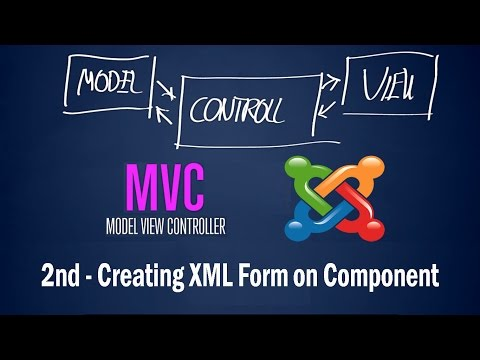Joomla 3 Developing Component: 2nd - Creating XML Form On Component View Design Patterns