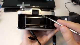 Canon AE-1 Ремонт задней крышки/как убрать засветку