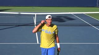 01 28 2018 UCLA Vs Utah State #1 Men's tennis singles