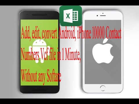 Mobile Contacts Edit In Excel | Vcf (vCard) To Excel | Excel To Vcf (vCard) Without Any Software