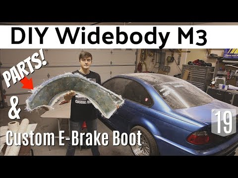 DIY Widebody M3: Making Parts & Custom E-Brake Boot