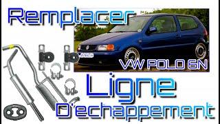 Changer une ligne d'échappement complète sur VW POLO