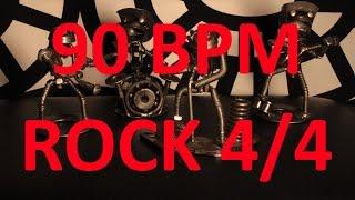 90 BPM - ROCK - 4/4 Drum Track - Metronome - Drum Beat