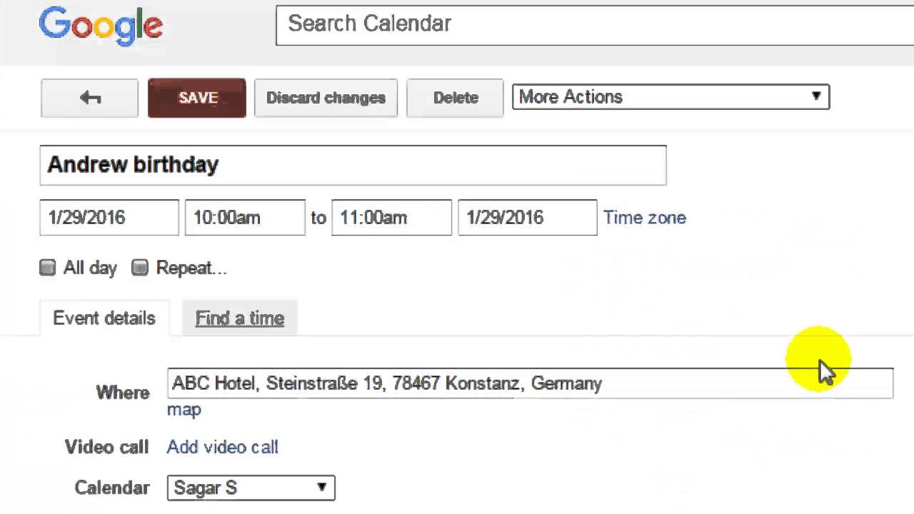 How To Invite People For An Event In Google Calendar Youtube