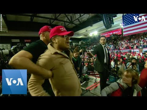 Cameraman Attacked at Trump Rally in Texas