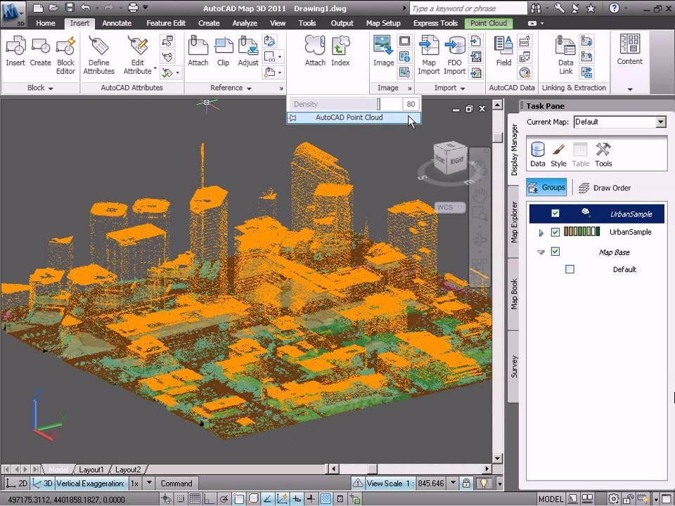 How to work with lidar point clouds in autocad map 3d youtube sciox Images