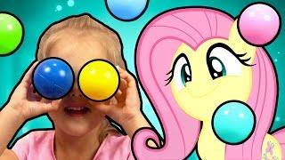 Бассейн Замок Принцессы Надувной Манеж My Little Pony Май Литл Пони Флаттершай и Сумеречная Искорка