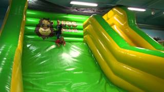 Indoor Playground Jump Slide at Leo's Lekland (family fun)