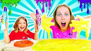 Mila and Mom Spoiled Slime and Make a Slush