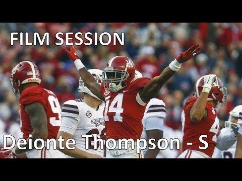competitive price bce3b 8ad91 Deionte Thompson (Alabama) Film Session (S) || 2019 NFL Draft