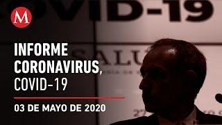 Informe diario por coronavirus en México, 03 de mayo de 2020
