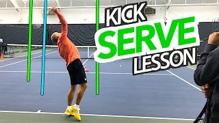 DOUBLE FAULT FIX: How to hit a KICK SERVE