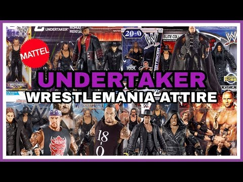 The Undertaker | Every WWE Wrestlemania Attire That Mattel Have Made Figures Of