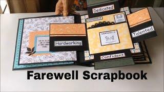 Farewell Cards For Colleague Goodbye Cards Handmade Diy Scrapbook Ideas Youtube