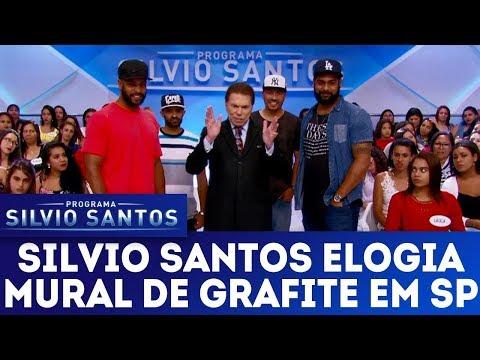 Silvio Santos elogia mural de grafiteiros de São Paulo | Programa Silvio Santos (14/01/18)