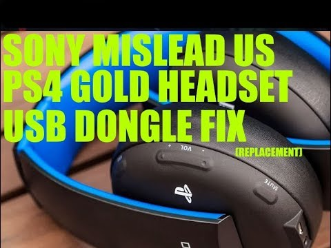 Playstation 4 Gold Headset Usb Dongle Fix New Adapter Headset 0083 Adapter 0082 Youtube