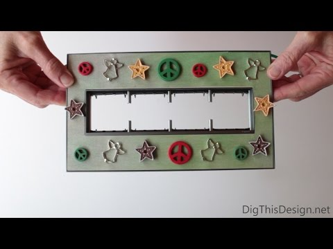 How to DIY a custom holiday switch plate