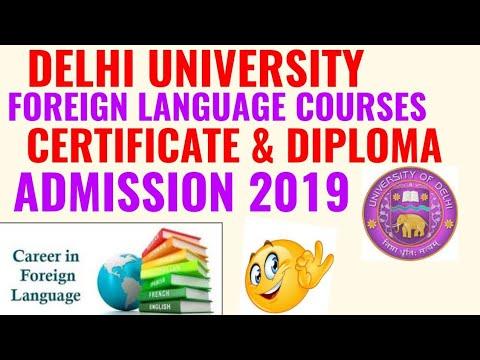 Delhi University Foreign Language Courses Admission 2019 Ramjas College Foreign Language Admission