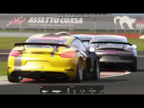 Assetto Corsa Race Start against Ai at Silverstone National in Cayman GT4 Clubsport  
