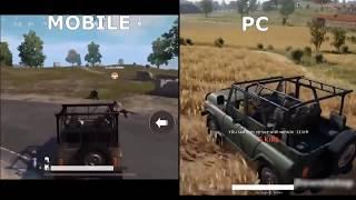 PUBG Mobile VS Pc | 2018
