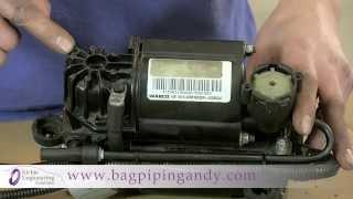 bagpipingandy how to fit audi jaguar mercedes vw lr wabco air suspension compressor repair kit