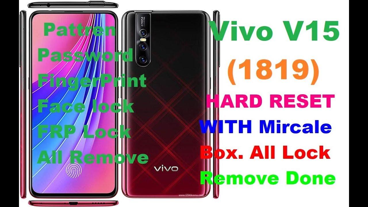 Vivo V15 (1819) Pattern Lock & Password Lock Reset With Mircale Box,100%  Done