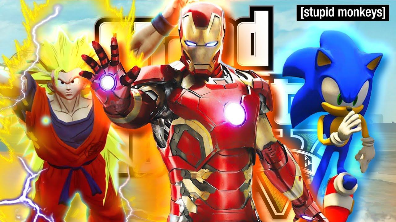 ROLÊ ALEATÓRIO DOS MODS no GTA 5 - Homem de Ferro, ET BILU, Goku, Jailson Mendes e Mais