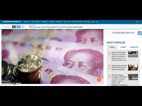 BREXIT Professor David Beckworth: China Yuan Could Be Catalyst For Financial Panic After BREXIT