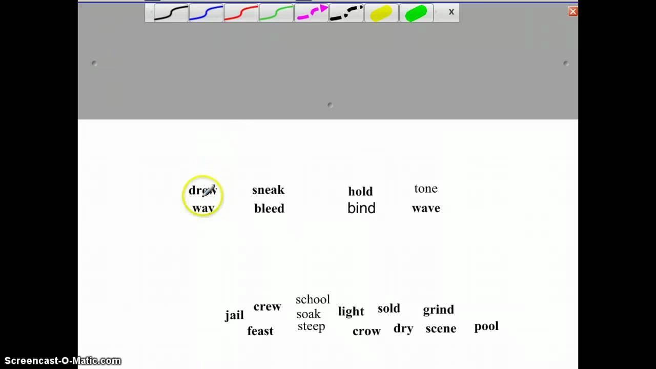 CVCe CVVC CVC Open Syllables Patterns - YouTube [ 720 x 1280 Pixel ]