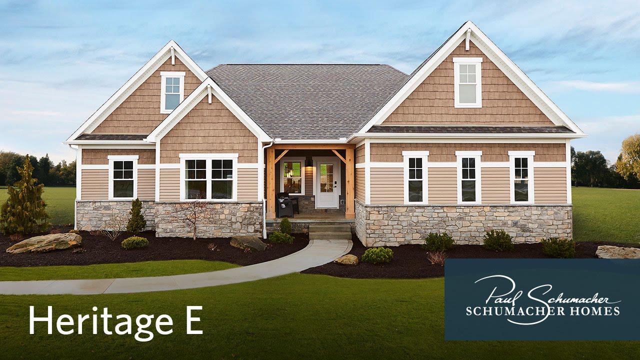 Schumacher homes walkthrough heritage e model youtube for Schumacher homes house plans