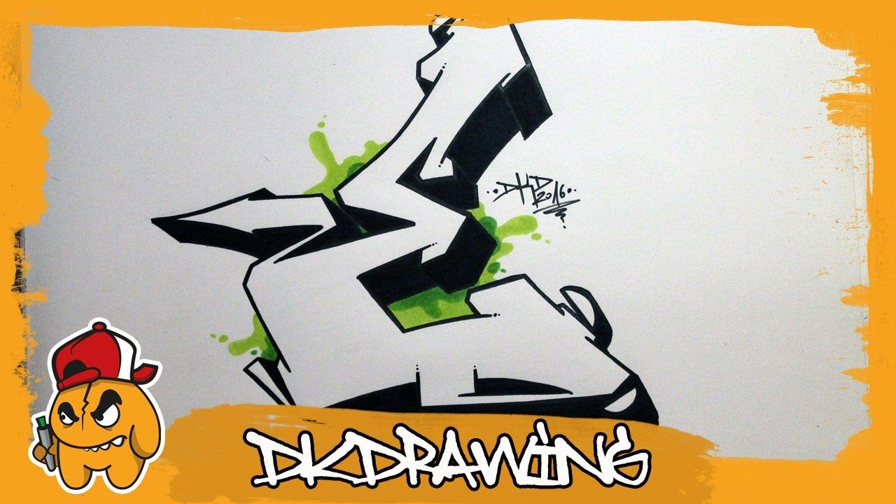 Graffiti Alphabet Tutorial How To Draw Graffiti Letters Letter E