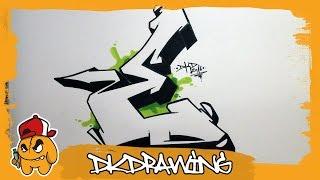 Graffiti Alphabet Tutorial - How to draw graffiti letters - Letter E