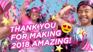 Gambar cover Watch Jessalyn Grace, Sophie Michelle Says, Piper Rockelle, Reuben DeMaid & more in a 2018 recap!