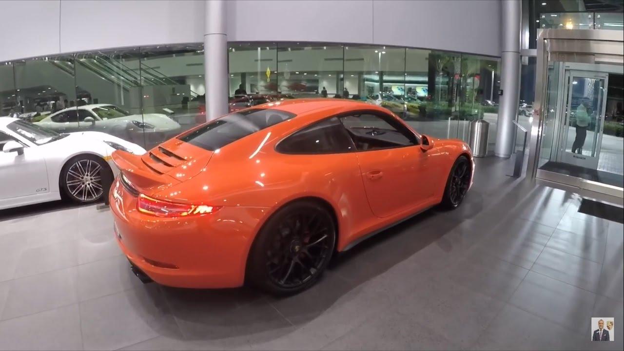 2016 Lava Orange Porsche 911 Carrera GTS 430 hp @ Porsche West Broward