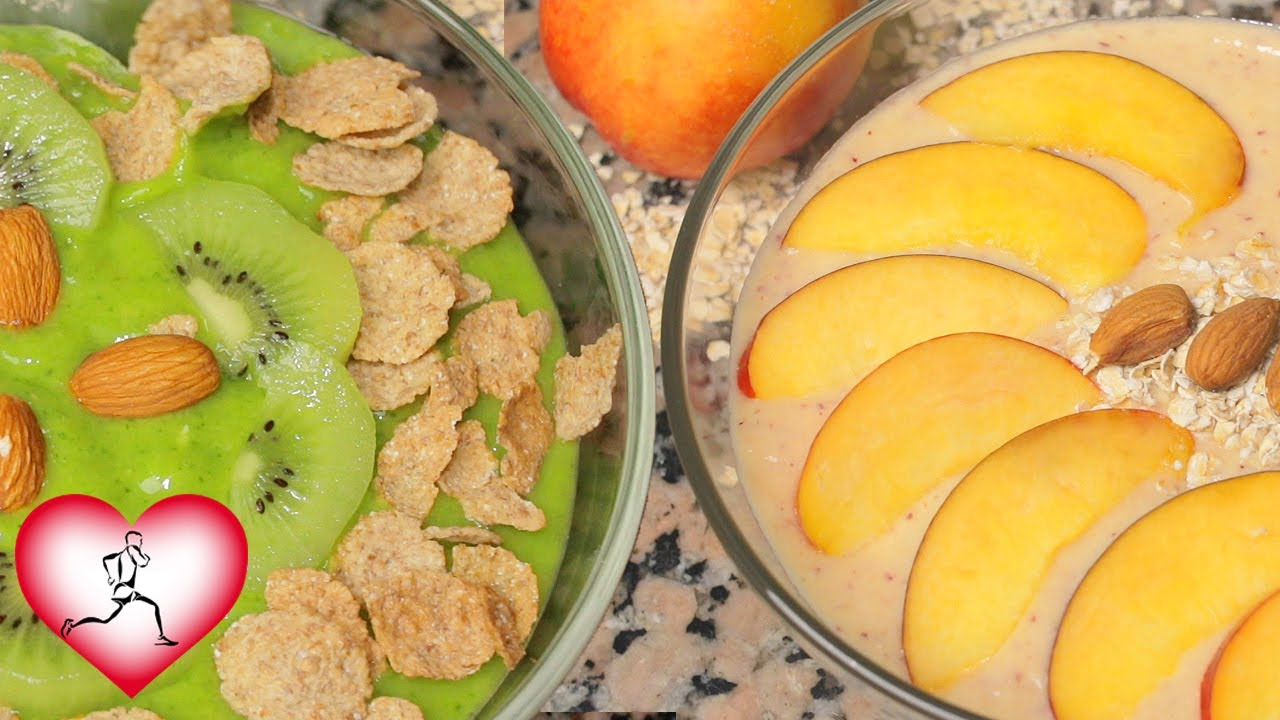 4 Smoothie bowls para DESAYUNAR | Recetas fáciles | Batidos saludables